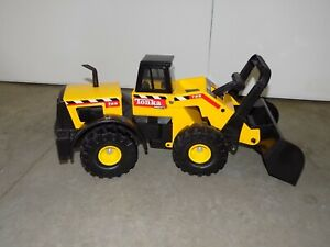 Vintage Metal & Plastic Tonka Mighty 728 Yellow Swivel Front Loader Toy