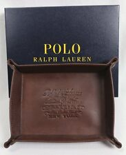 POLO RALPH LAUREN Coin Key Trinket Tray Brown Leather NWT NIB $125