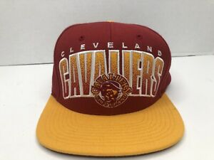 Cleveland Cavaliers Sports NBA Maroon & Yellow Snap Back Hat Mitchell & Ness Cap
