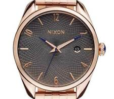 NEW $250 Nixon Women's Bullet Analog Display Quartz Rose Gold Watch A4182046