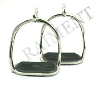 Horse Safety Saddle Stirrups 4.75 Inch Double Bend Stainless Steel Equine Tack