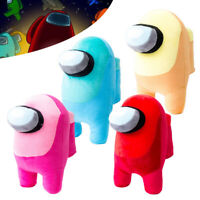 20cm Soft Plush Among Us Colorful Crewmate Plushie Toy Game Original Doll Gifts