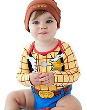 WooDy~BodySuit + Cap~CoTTon~Baby~Infant 6-24M~Disney Store~Toy Story~Sheriff