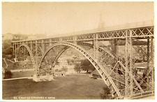 Suisse, Berne, Pont du Kirchenfeld, ca.1885, vintage albumen print Vintage album
