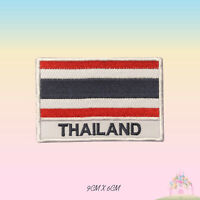 Thailand National Flag With Name Embroidered Iron On Patch Sew On Badge Applique