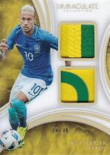 2017 Immaculate Collection Acetate Dual Patches #22 Neymar Jr/35