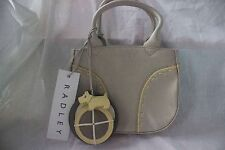 Brand New Hand-Made Radley Leather Mushroom Mini Discs Small Womens Handbag
