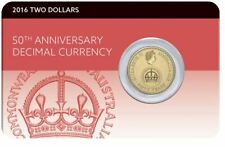 2016 $2 DECIMAL CURRENCY 50th Anniversary Coin on Card