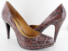 Nine West Rocha Womens Dark Brown 4.5'' Platform Classic PUMPS HEELS Size 10
