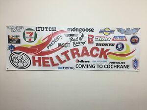 RAD RACING logo  BMX HELLTRACK VANS HUTCH HARO mancave   BANNER 6ft X 2ft