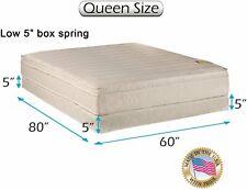 """Dream Sleep Comfort Pedic Firm Queen Mattress & Low 5"""" Height Box Spring Set"""