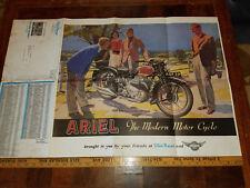 VINTAGE 1939 ARIEL SQUARE FOUR 1000cc DOMI RACER PRICE LIST & POSTER 34 X 22 NEW