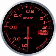 DEFI ADVANCE BF Intake manifold Pressure Gauge Amber Red Face 60mm DF10102