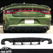 Fits 15-18 19 Dodge Charger SRT OE Style Rear Bumper Diffuser PP Valance