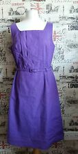 LAURA ASHLEY OCCASIONS PURPLE PENCIL KNEE LENGTH DRESS SIZE 14 UK