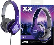 JVC HA-SR100X VIOLET On-Ear Club style Headphones Remote & Microphone /Brand New