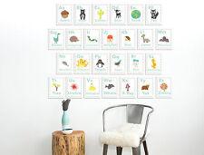 Nature Themed, Nursery Wall Art Decor, Our World, Wall Cards, Spanish Alphabet