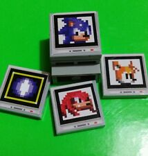 Sonic the Hedgehog LEGO (Custom Monitor Power-up - LEGO Dimensions 2x2 Tile)