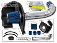 BLUE Filter For 04-05 SILVERADO 2500 3500 6.6 V8 LLY Heat Shield Air Intake Kit