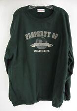 Disney Sweatshirt 2XL Dark Green Pullover Property of Disneyland Athletic Dept.
