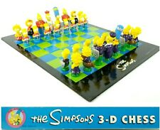 The Simpsons 3D Chess Set 1992 100% Complete Board Game in Box 3-D