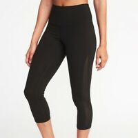 NWT Old Navy Elevated Compression High Rise Crop Mesh leggings Medium
