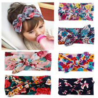 6pcs Baby Toddler Girls Kids Bow Knot Turban Headband Hair Band Head Wrap Sale
