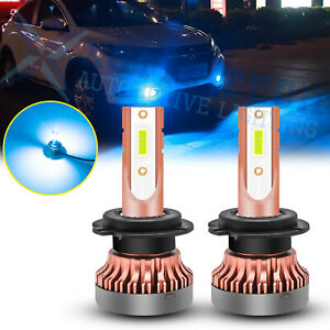 2x H7 8000K Ice Blue COB LED DRL Daytime Running Light Fog Driving Lights Bulbs