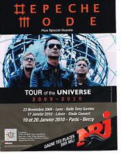 PUBLICITE ADVERTISING 094  2009   NRJ radio  presente DEPECHE MODE en concert