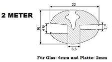 2m Klemmprofil (9,40€/m) Scheibendichtung Fenstergummi Boot NFZ etc.DMF-P-444-2