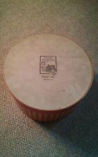 000 Vintage Williamsburg Virginia Casey's Red Stripe Hat Box Large 13x13x8