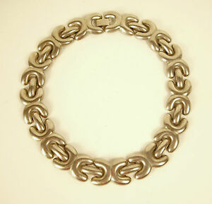 collier ancien Chanel argenté 45 cm 90 g ancient silvered Chanel necklace