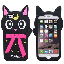 Moon Cat cute kitten kitty lovely Shockproof rubber Case Cover Skin for iPhone 7