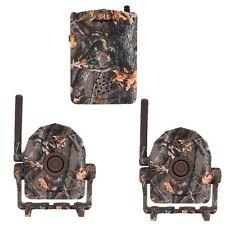 Motion Sensor Wireless Detector Alarm Alert Secure System Receiver+2x Detectors