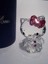 Swarovski-Hello Kitty arco Rosado-perfecto Estado-Nuevo Y En Caja