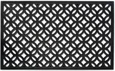 Wrought Iron Look Recycled Rubber Doormat Industrial Decor & Utility Piece