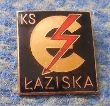 ELEKTRO LAZISKA GORNE POLAND FOOTBALL FUSSBALL SOCCER ICE HOCKEY 1960' RARE PIN