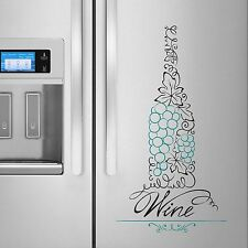Wine Bottle Decal Sticker for Dishwasher Refrigerator Washing Machine Stove Dorm