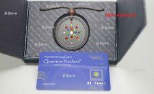 Scalar Energy Pendant colorful CZ Stones health stones jewelry lava quantum+Card