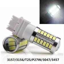 2x White T25 3157 3156 33SMD LED Bulbs for Brake Tail Backup Reverse Light 700LM