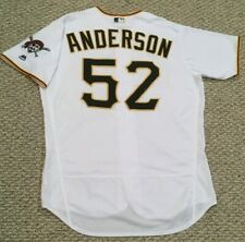 ANDERSON size 48 #52 2018 Pittsburgh Pirates game used jersey home white MLB hol