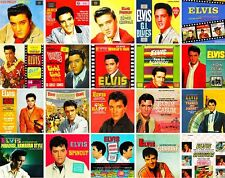 Elvis Presley - Album Collage 60's Vinyl LP Sticker, Magnet