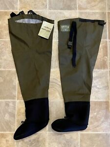 New Orvis SILVER LABEL 2 Hip Liner Fly Fishing Waders-Neoprene Bootie Foot NWT