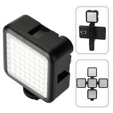 LED Video Light Camcorder W49 Pocket with 3 Cold Shoe Mount Vlog for DSLR Camera