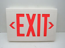 Hubbell Dual lite LXURW Thermoplastic LED Exit Sign 120/277VAC Red Letters