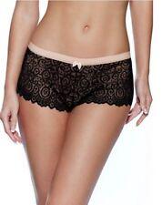 Lepel Womens Matilda Short Knickers Black & Gold Size 16