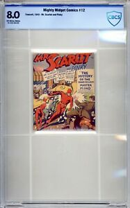 Mighty Midget Comics #12 - CBCS  8.0 (VF) 1943  Mr Scarlett - Golden Age - Rare