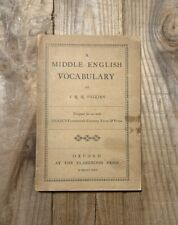 New listing J.R.R. Tolkien, A Middle English Vocabulary, 1922 First Edition, & His 1St Book!