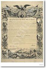 Emancipation Proclamation Slavery Lincoln POSTER