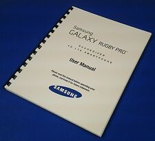 Samsung Galaxy Rugby Pro Ruggedized Smartphone User Manual at T Model SGH I 547